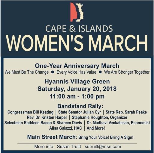 Cape Cod Womens March - Invitation