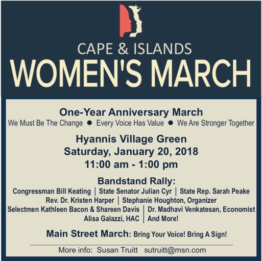 Cape Cod Womens March - Invitation